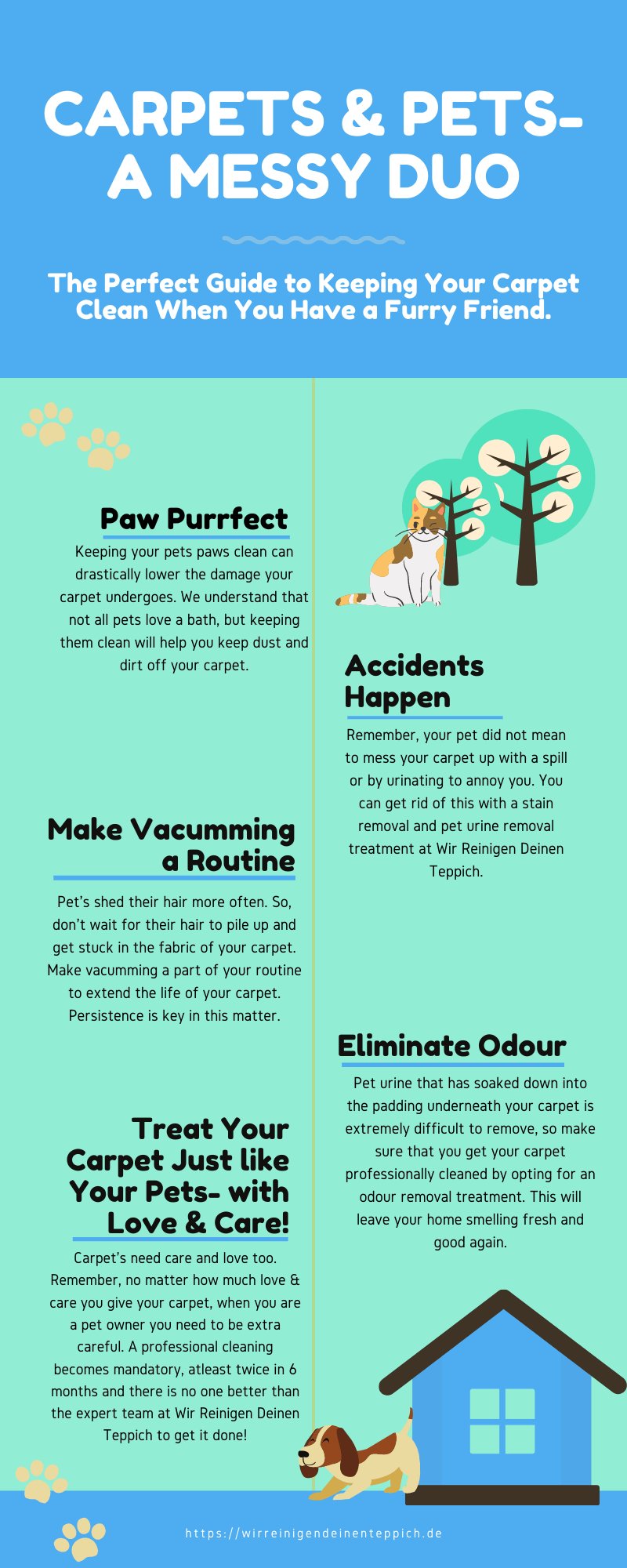 A Pet Owners Guide to Carpet Cleaning Infographics