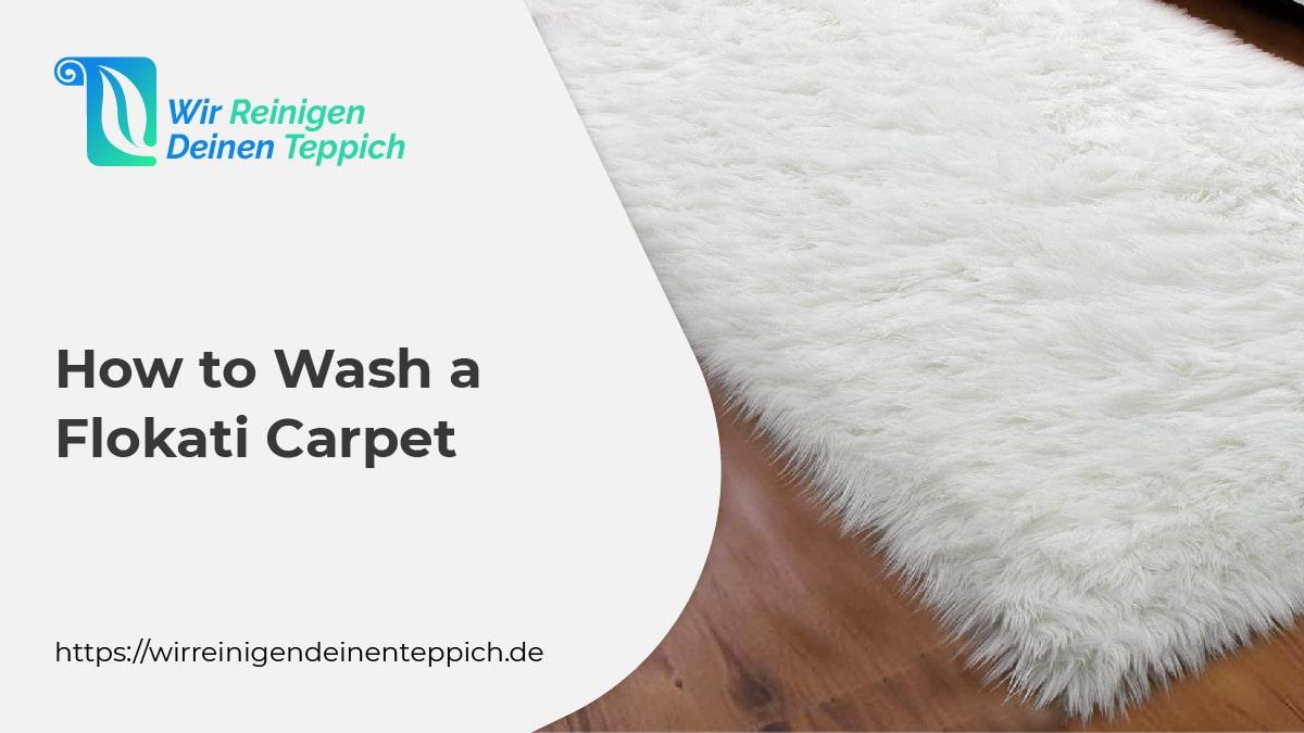 How to wash a flokati carpet